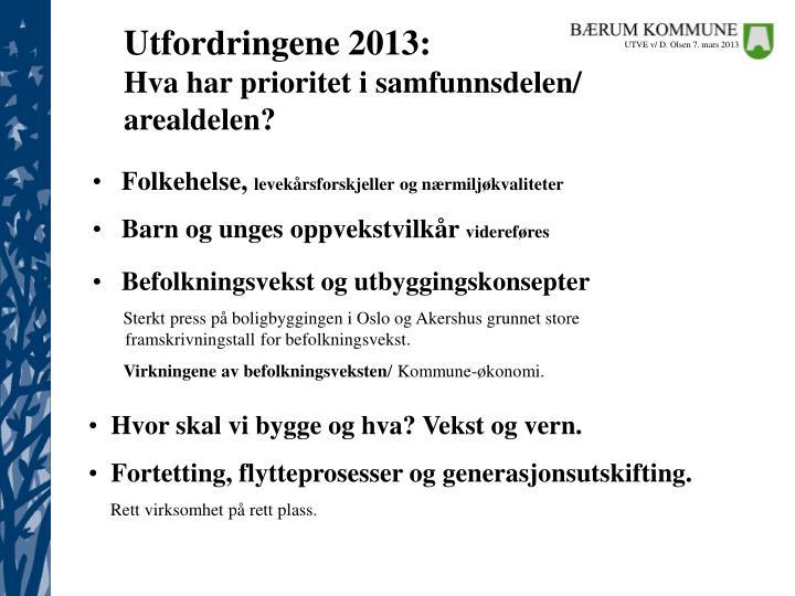 Utfordringene 2013: