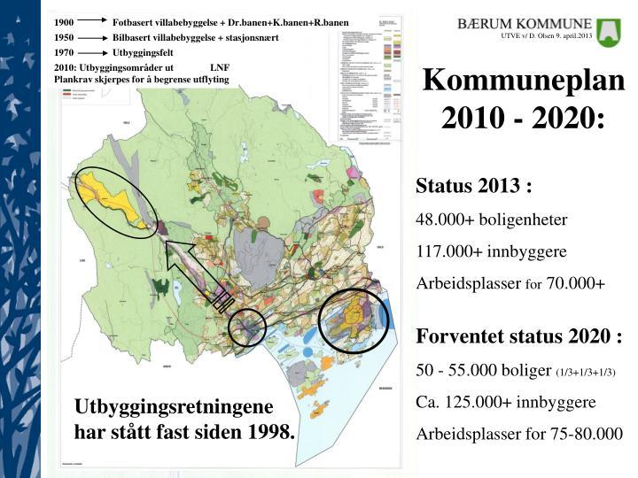 1900                Fotbasert villabebyggelse + Dr.banen+K.banen+R.banen