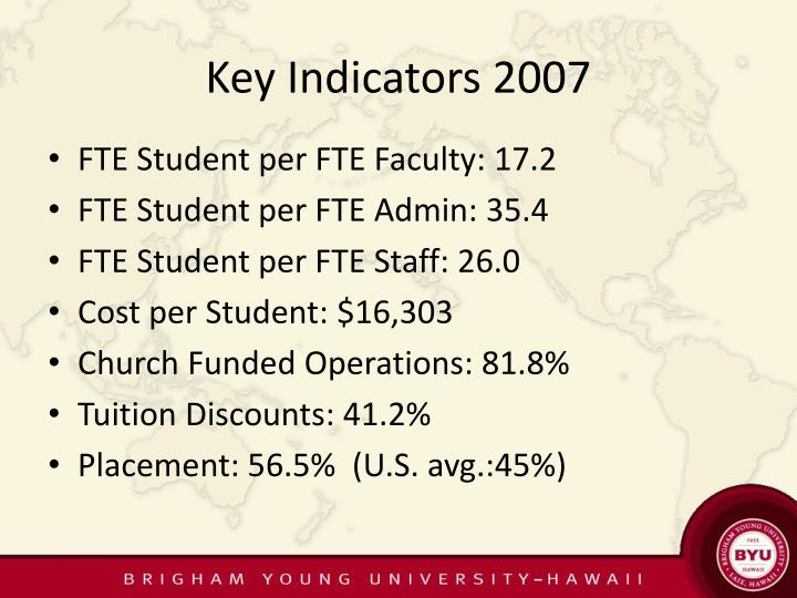 Key Indicators 2007