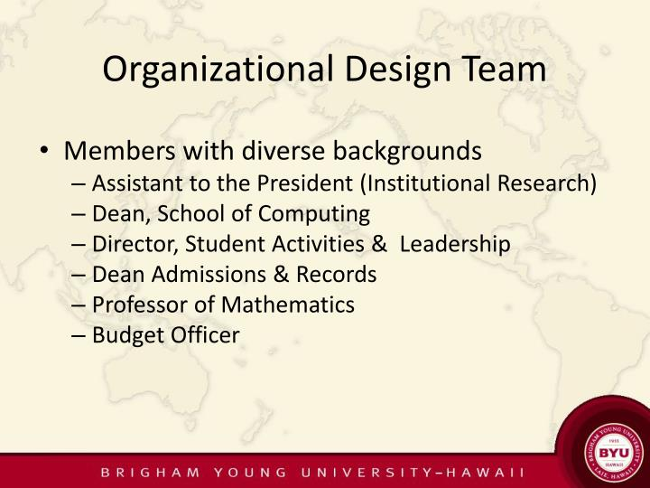Organizational Design Team