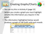 creating graphs charts