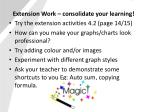 extension work consolidate your learning