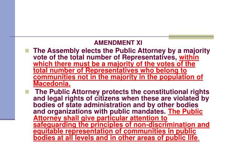 AMENDMENT XI