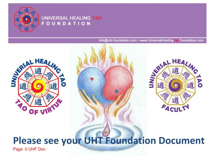 Please see your UHT Foundation Document