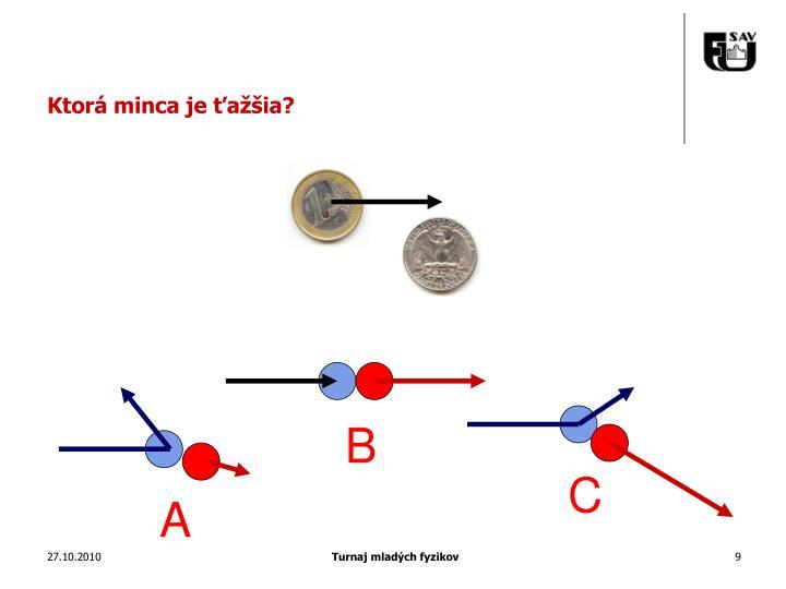 Ktorá minca je ťažšia?