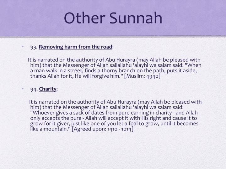 Other Sunnah