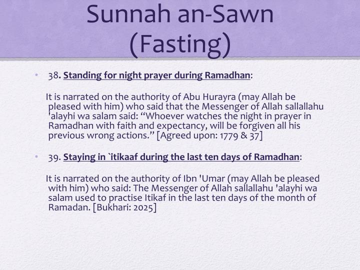 Sunnah an-Sawn (Fasting)