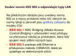 soubor norem ieee 802 a odpov daj c typy lan1