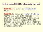soubor norem ieee 802 a odpov daj c typy lan3
