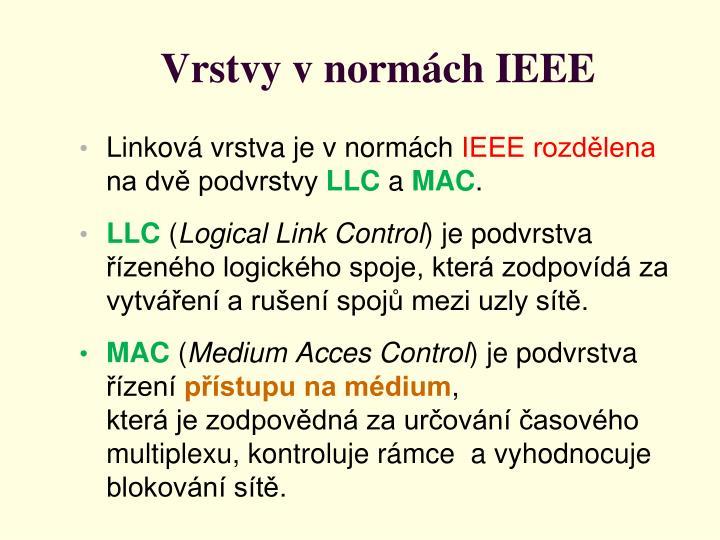 Vrstvy v normách IEEE