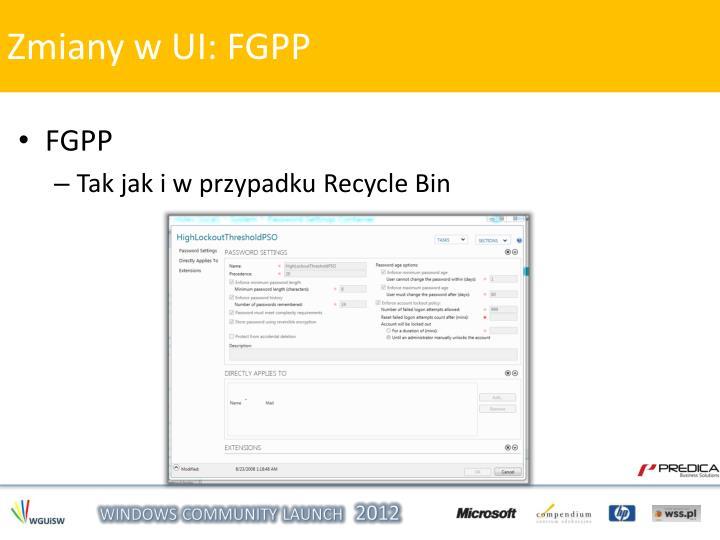 Zmiany w UI: FGPP