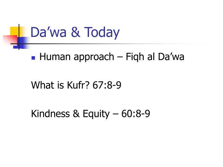 Da'wa & Today