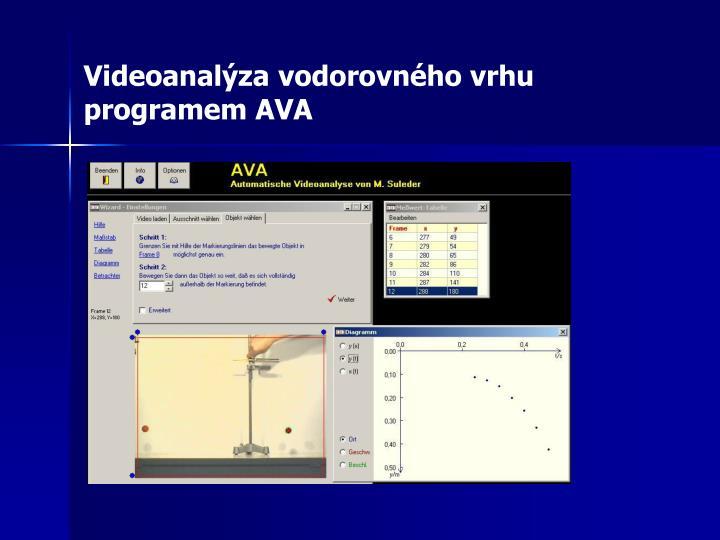 Videoanalýza vodorovného vrhu programem AVA