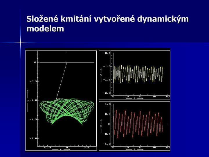 Složené kmitání vytvořené dynamickým modelem