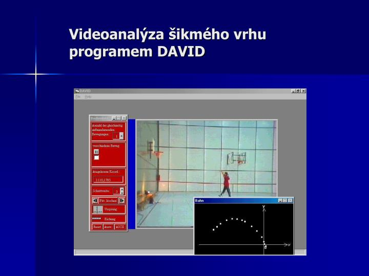Videoanalýza šikmého vrhu programem DAVID