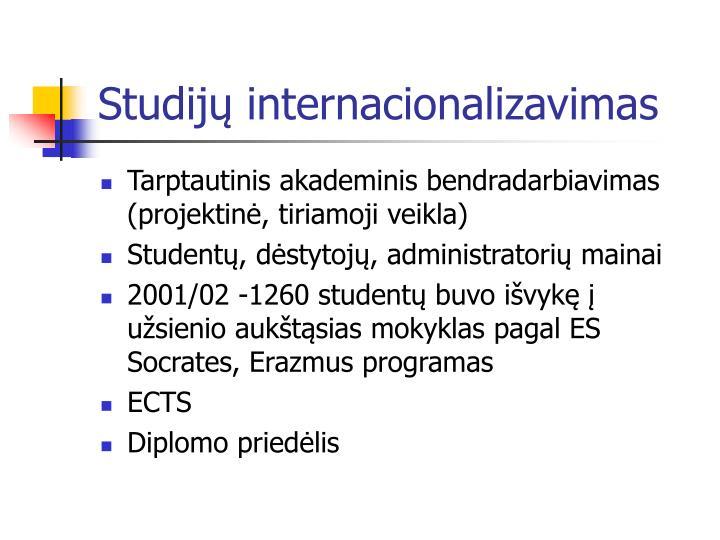 Studijų internacionalizavimas