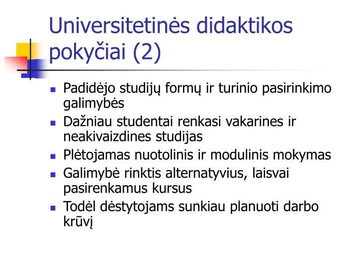 Universitetinės didaktikos pokyčiai (2)