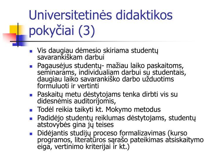 Universitetinės didaktikos pokyčiai (3)