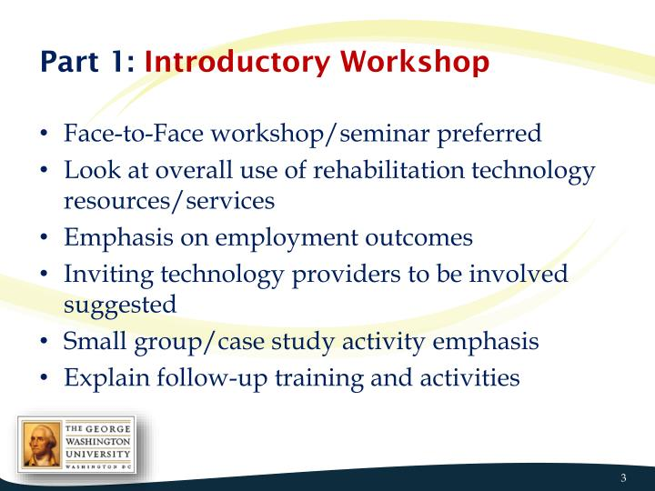 Part 1 introductory workshop