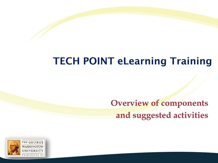 Tech point elearning training