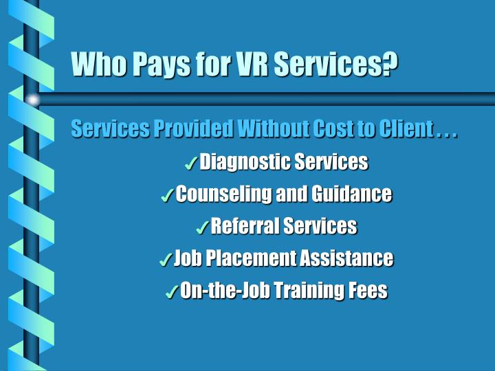 Who Pays for VR Services?