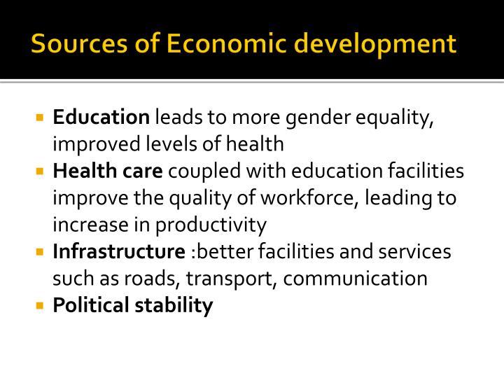 Sources of Economic development