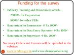 funding for the survey
