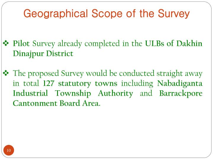 Geographical Scope of the Survey
