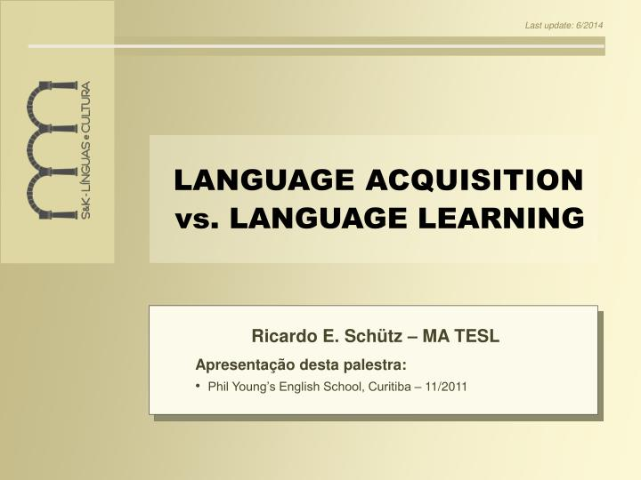 language learning vs language acquisition essay