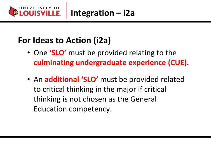 Integration – i2a