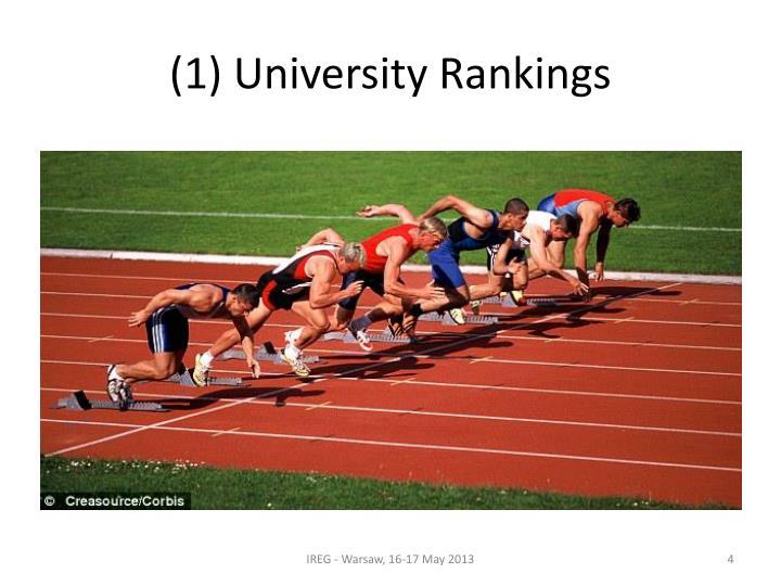 (1) University Rankings