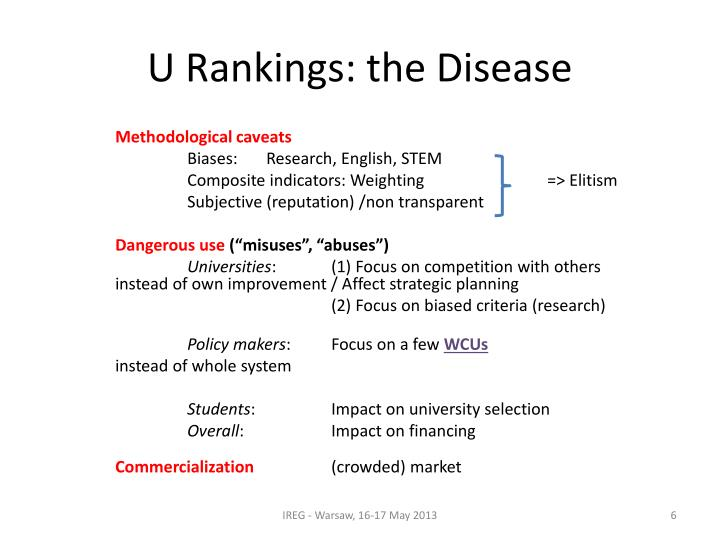 U Rankings: the Disease