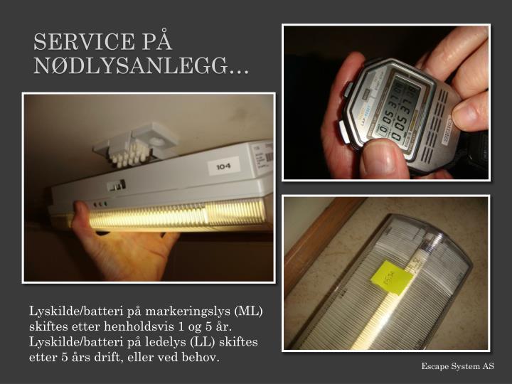 Service PÅ nødlys