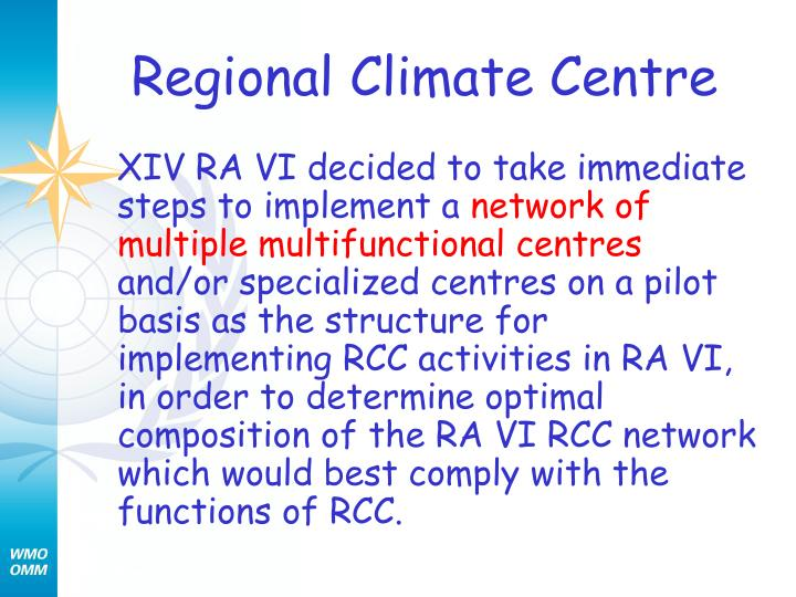 Regional Climate Centre