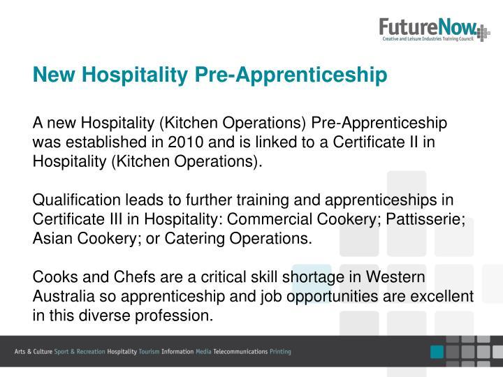 New Hospitality Pre-Apprenticeship