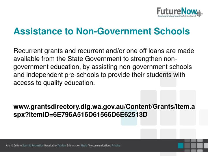 Assistance to Non-Government Schools