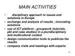 main activities4