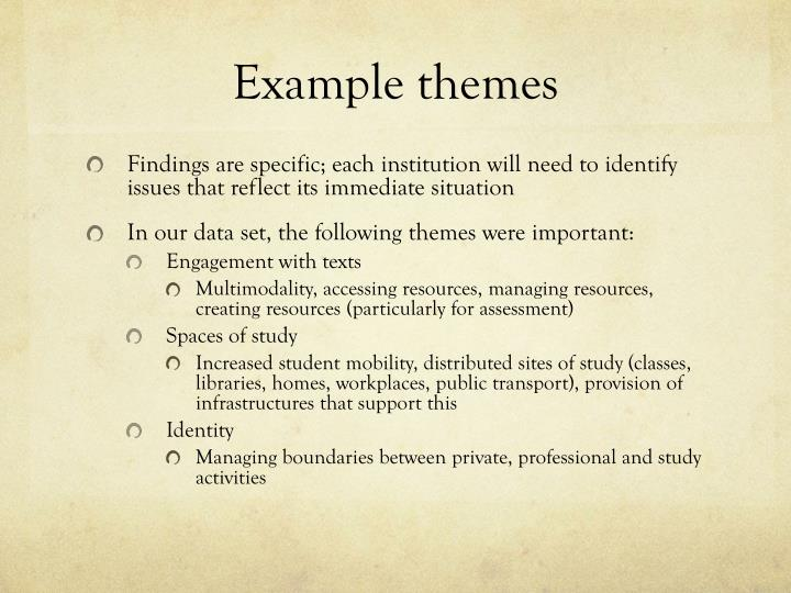 Example themes