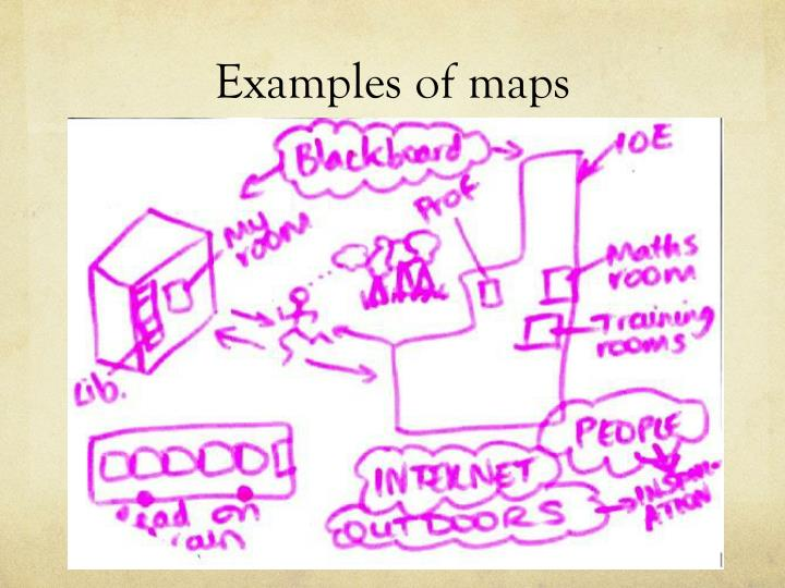 Examples of maps