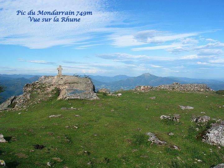 Pic du Mondarrain 749m
