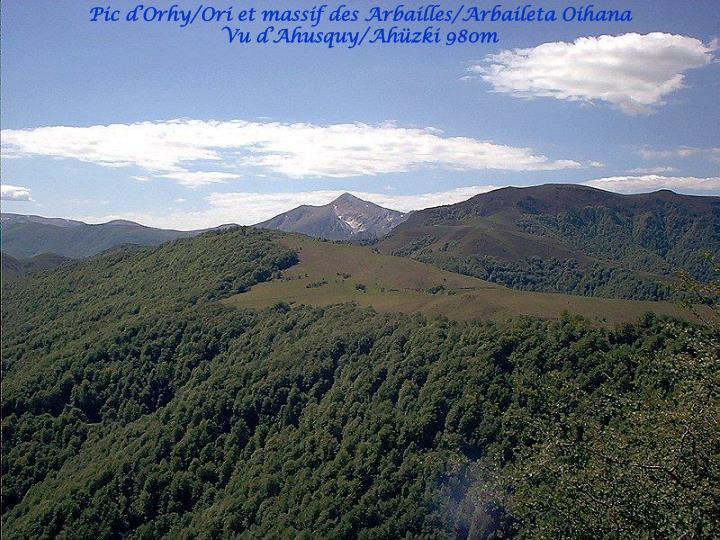 Pic d'Orhy/Ori et massif des Arbailles/Arbaileta Oihana