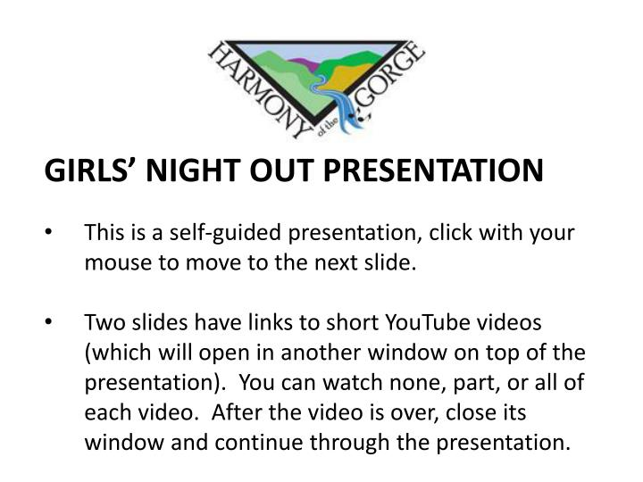 GIRLS' NIGHT OUT PRESENTATION