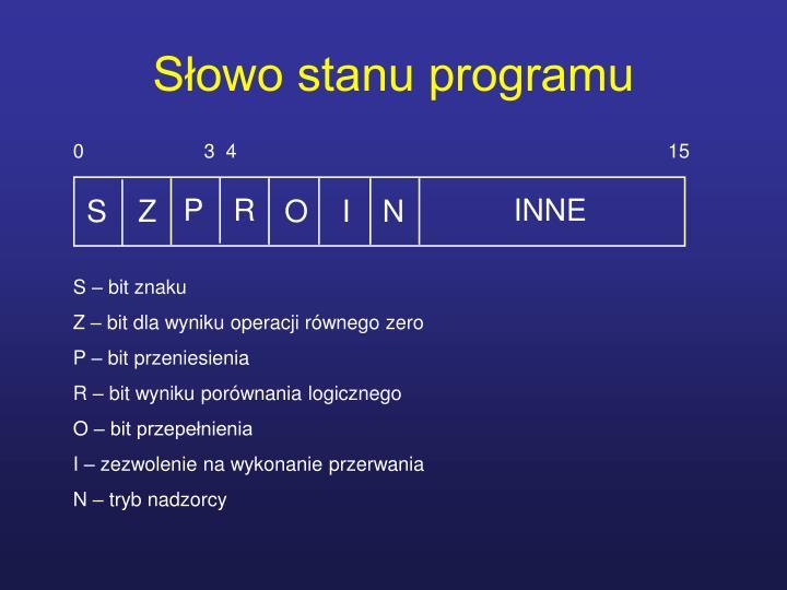 Słowo stanu programu