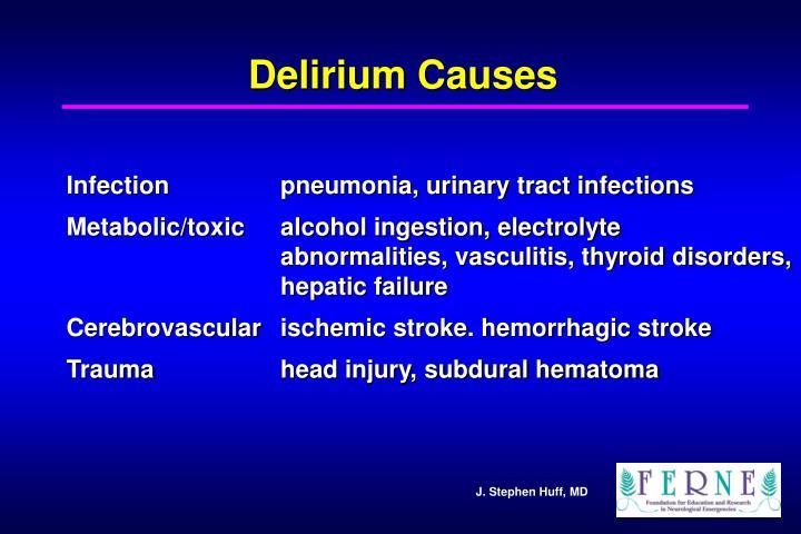 Delirium Causes