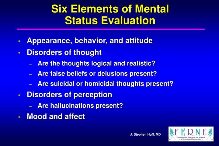 Six Elements of Mental