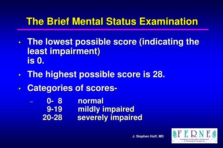 The Brief Mental Status Examination
