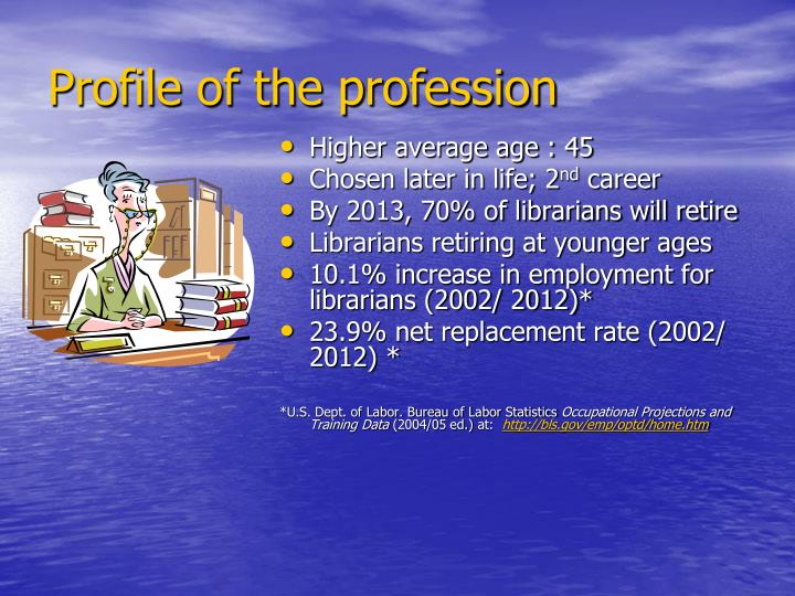 Profile of the profession