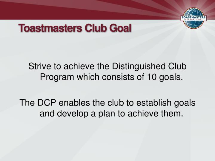 Toastmasters Club Goal