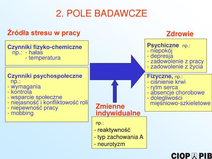 2. POLE BADAWCZE