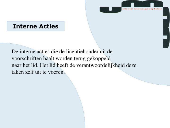 Interne Acties